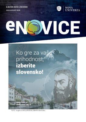 e-Novice Nove univerze, julij – avgust 2018